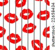 Seamless grating lips bacrground - image for Valentines day design. Vector version is in my portfolio - stock photo