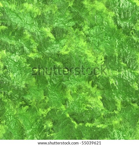 seamless green liquid texture - stock photo