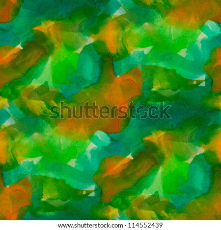 seamless green yellow background watercolor yellow color water orange abstract art