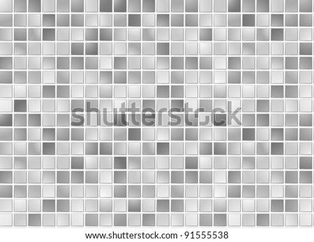 Seamless grey square tiles pattern - stock photo
