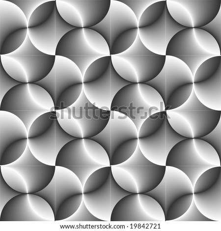 Seamless halftone black and white circle background. Vector version is in my portfolio - stock photo