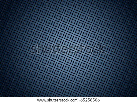 Seamless halftone dot pattern background with blue - stock photo