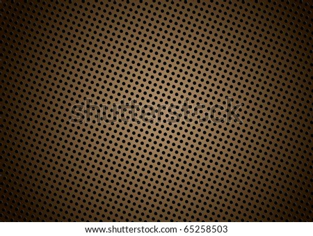 Seamless halftone dot pattern background with brown - stock photo