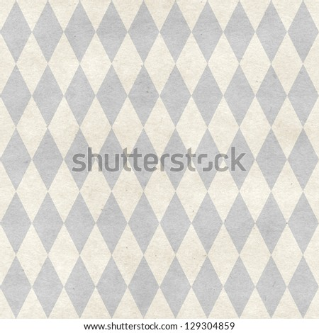 Seamless harlequin pattern on paper texture. Basic shapes backgrounds collection - stock photo