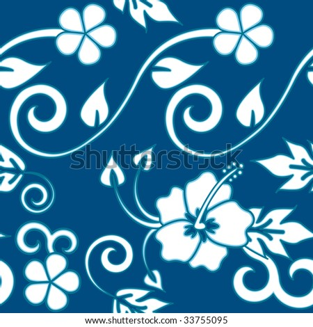 seamless hawaiian flower pattern. high res JPG