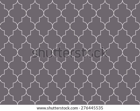 Seamless inverse black and white moroccan pattern - stock photo