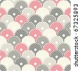 Seamless Japanese pattern in pastel colors - stock vector