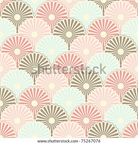 Seamless japanese vintage pattern (raster version) - stock photo