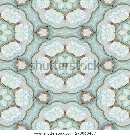 Seamless kaleidoscope texture or pattern in pastel colors 6 - wallpaper pattern - stock photo