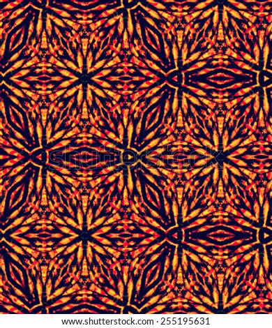 seamless kaleidoscopic tie dye pattern. abstract  floral decorative elements, - stock photo