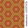 Seamless kashmir, paisley or country geometric hexagonal pattern of autumn colors ( for vector EPS see image 61557475 )  - stock photo