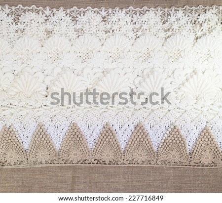Seamless lace cloth background and texture - stock photo