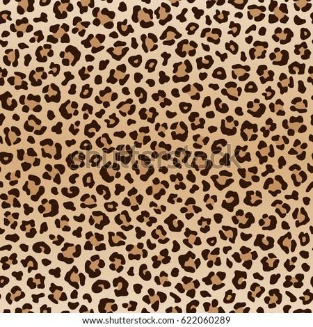seamless leopard pattern animal print raster version