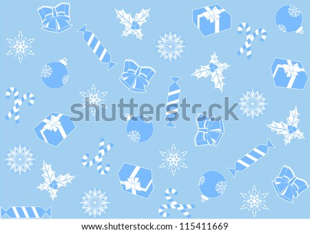 seamless light blue background for the new year and Christmas