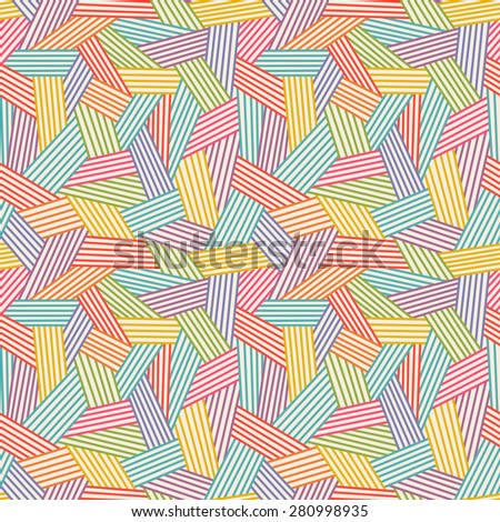 Seamless linear pattern. Color illustration with hand drawn graphic. Abstract background for print, web  - stock photo