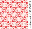 Seamless love  pattern with grunge design. Raster version - vector version in my portfolio. - stock
