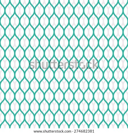 Seamless mint and white overlapping woven pattern