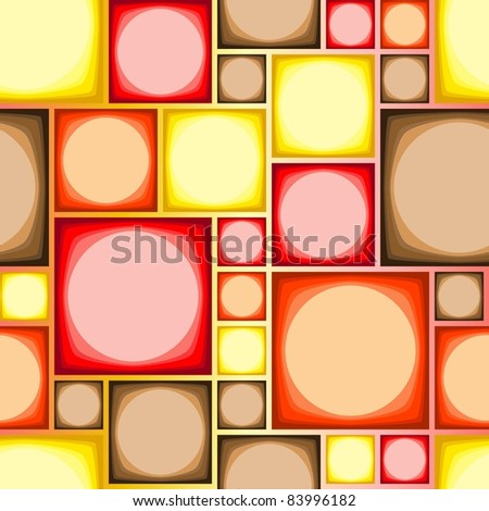Seamless modern tile pattern in hot colors - stock photo