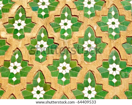 Seamless moroccan mosaic pattern - stock photo