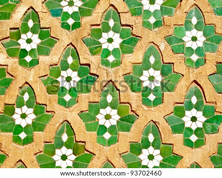 Seamless moroccan mosaic pattern a backgrounds a - stock photo