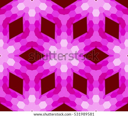 seamless mosaic. floral stained-glass window. purple color. Raster copy illustration. for design, wallpaper, interior