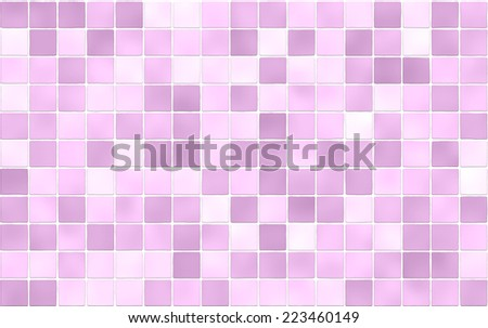 Seamless Mosaic Tiles Background Texture. Pink Color. Wall, Floor Tiles. Part 78