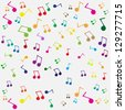 Seamless music background. Raster version of the loaded vector - stock photo