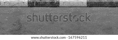 Seamless (only horizontal) road with border texture - stock photo