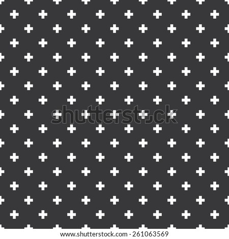 Seamless op art plus cross symbol pattern - stock photo