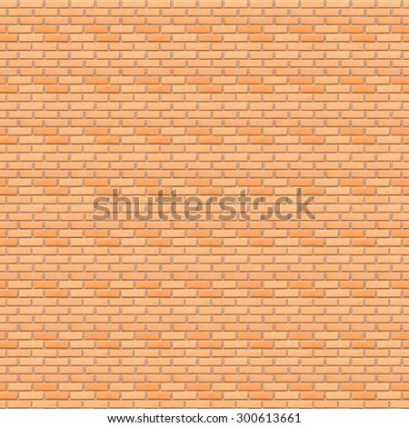 Seamless Orange clay tiles brick wall texture background. - stock photo