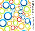 Seamless organic pattern with bright colorful circles. Raster version of the vector image - stock photo