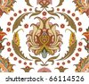 seamless ornament with east design - stock vector