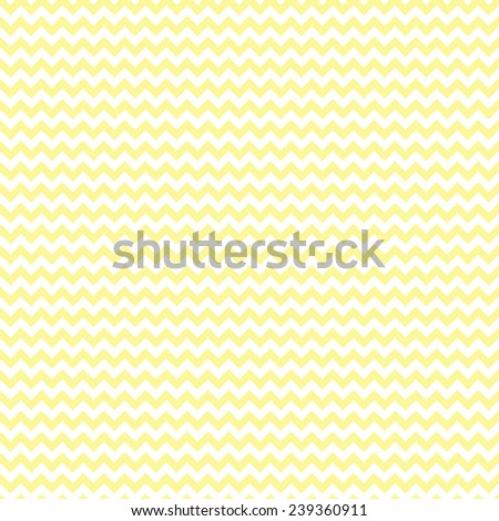 Seamless Pale Yellow & White Chevron Pattern - stock photo