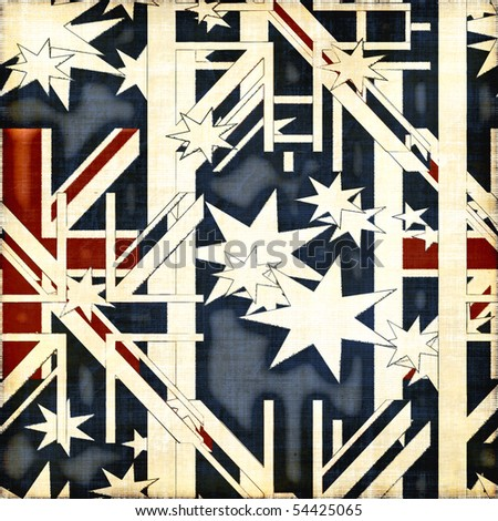 Seamless Patriotic Background - stock photo