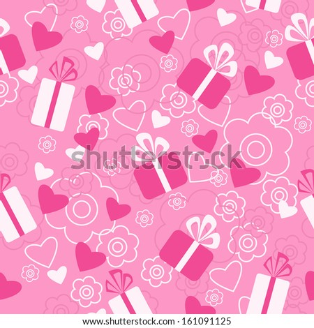 Seamless pattern a Valentine's Day