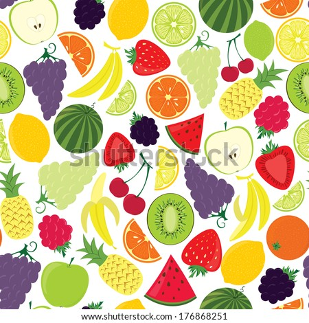 Seamless pattern from fruits