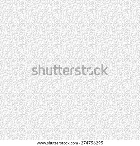 Seamless pattern - imitation of heavy crumpled paper (grey texture on white) - stock photo