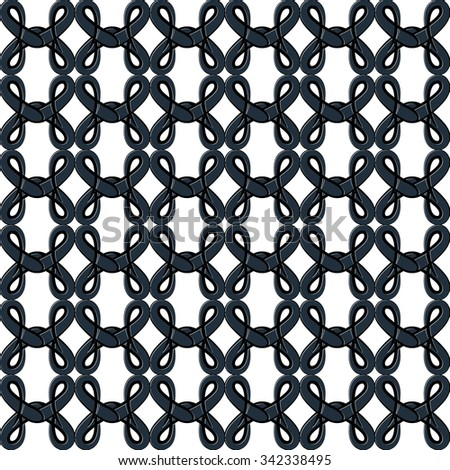 Seamless pattern in the form of an openwork lattice - stock photo