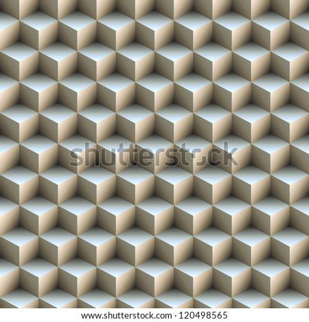 Seamless pattern made of stacked cubes. Illustration. - stock photo