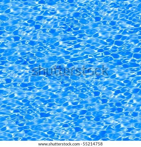 Seamless pattern of blue water in pool. - stock photo