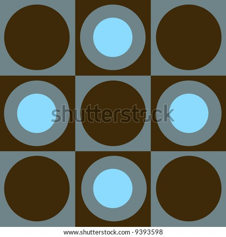 seamless pattern of circles and squares - stock photo