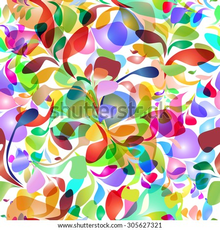 Seamless pattern of colorful brush strokes