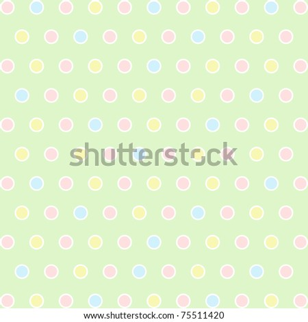 Seamless pattern of colorful polka dots background - stock photo