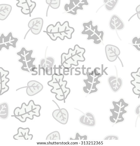Seamless   pattern of floral motif, spots, leaves,branches, doodles. Hand drawn, autumn theme.