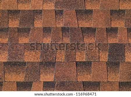 Seamless pattern of shingles roof - stock photo