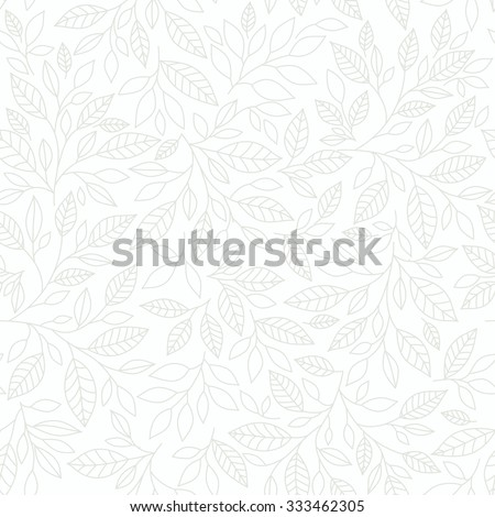 seamless pattern of stylized leaves of mint on color on a light background