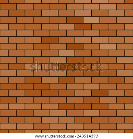 Seamless pattern of the abstract reddish brick wall background - stock photo