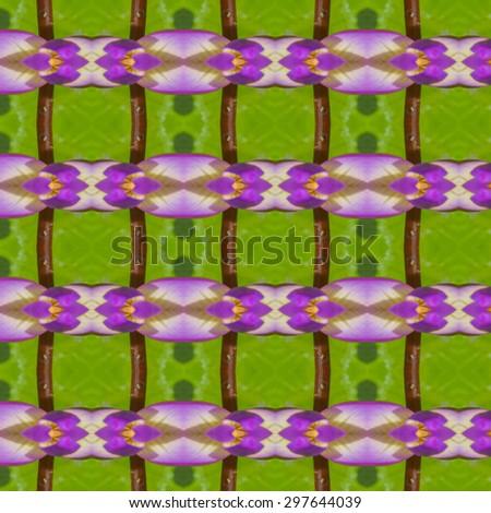 Seamless pattern on purple, pink, yellow, green tone - stock photo