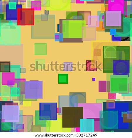 Seamless pattern, Random square shape, digital generative art for design texture & background