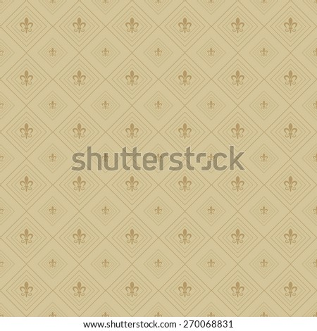 Seamless pattern. Template Background. Modern Wallpaper for your design. Image texture. Old style. For design of cards, invitations, book, web design, wallpapers for walls. Brown color - stock photo